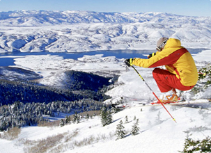 skiing the slopes of Park City Utah